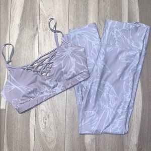 Fabletics set with floral print